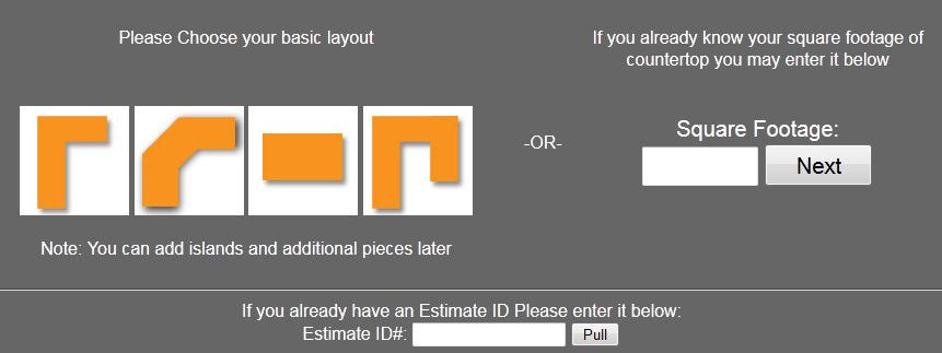 Countertop Calculator Cost Options Concrete Countertop Calculator